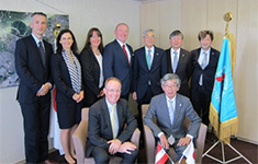 Rector Fritz Schmöllebeck and the group of delegates (University of Applied Science Technikum Wien, Austria) Visit (September 26, 2016)