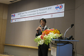 Congratulatory remarks from Mr. Fukushima, Deputy Chief of Mission and Minister of the Embassy of Japan in Thailand