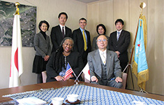 American Consulate General Osaka-Kobe Delegation Visit headed by Consul General Karen Kelly (February 9, 2018)